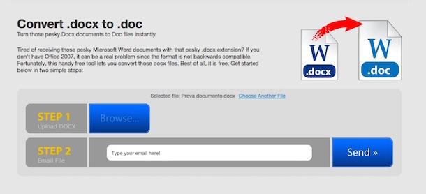 Come trasformare documento DOCX in DOC