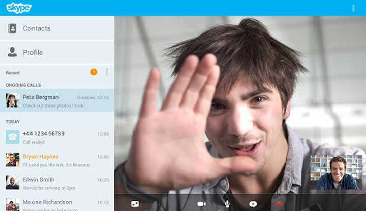 come registrare skype android